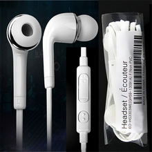 Noodle Flat cord in-ear Earphone with MIC and Volume Control earbuds Noise canceling headset for samsung S4 i9500 S4 white color