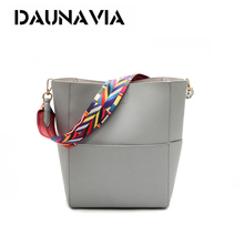DAUNAVIA Luxury Handbags Women Bag Designer Brand Famous Shoulder Bag Female Vintage Satchel Bag Pu Leather Gray Crossbody ND549(China)