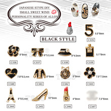 10pcs/lot wholesale costume jewelry suppliers flower bow high heels nail art metal alloy