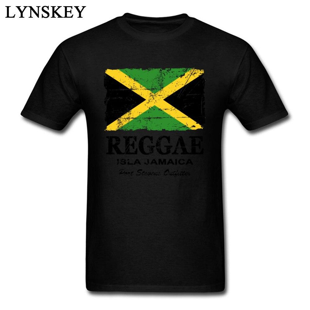 T-Shirt Normal Short Sleeve Funny Crew Neck 100% Cotton Tops T Shirt Group Summer Fall Reggae Jamaica Flag Tee Shirt for Boys Reggae Jamaica Flag black