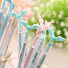 Kawaii Random color 0.5mm creative Angel wing heart candy color Gel pen dust plug signat pens stationery office school supplies