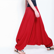 2017 fashion Cotton bloomers large crotch pants ,loose plus size M-5XL trousers, wide leg pants,13 color causal pants