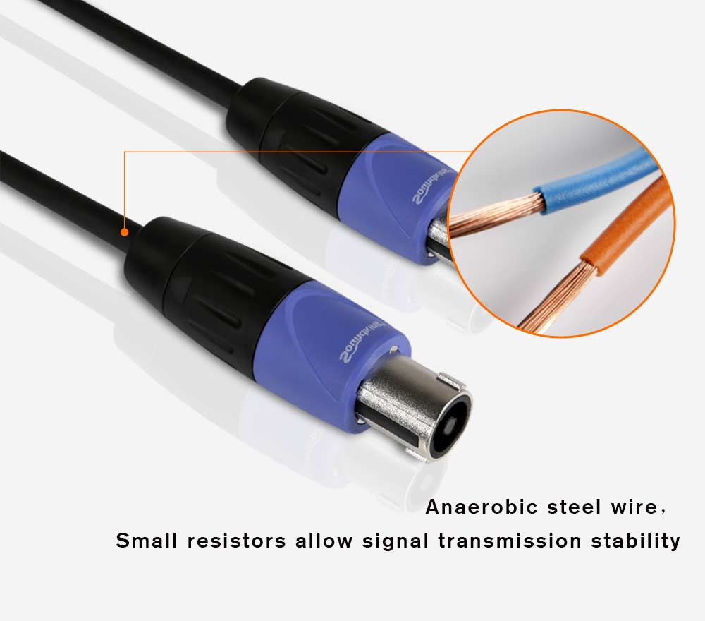 Soundking professional speaker cables audio cables jack cables 5m 10m 15m 20m male to male audio speaker cable B12 B13