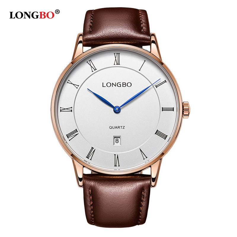 LONGBO Brand Lovers Watch Luxury Analog Fashion Rose Gold Watch Men Women Leather strap Waterproof Male Quartz-watch relogio<br><br>Aliexpress