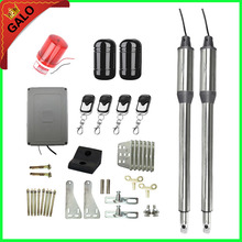 GALO Automatic Gate Opener swing Dual Swing Gate Motor Kit Gate Motors with 100m Infrared dual Beam Sensor and flash light(China)