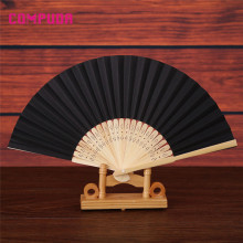 Folding Fan Dance Wedding Party Lace Silk Folding Hand Held Solid Color Fan u70801