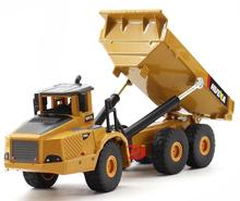 1:50 alloy articulated dump truck model toys, high imitation alloy engineering vehicle model, metal diecasting, wholesale(China)