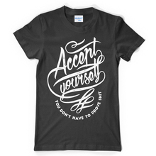 2017 Newest Letter Print Mens Clothing High quality Black Tee Shirts Accept Yourself Cotton T Shirt Low Price Round Neck Men Tee(China)