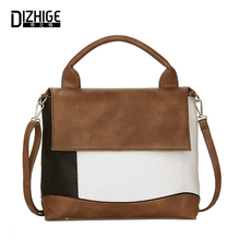 DIZHIGE Brand Fashion Patchwork Women Handbags Tote High Quality Crossbody Bags For Women PU Leather Ladies Hand Bags 2017 Sac(China)