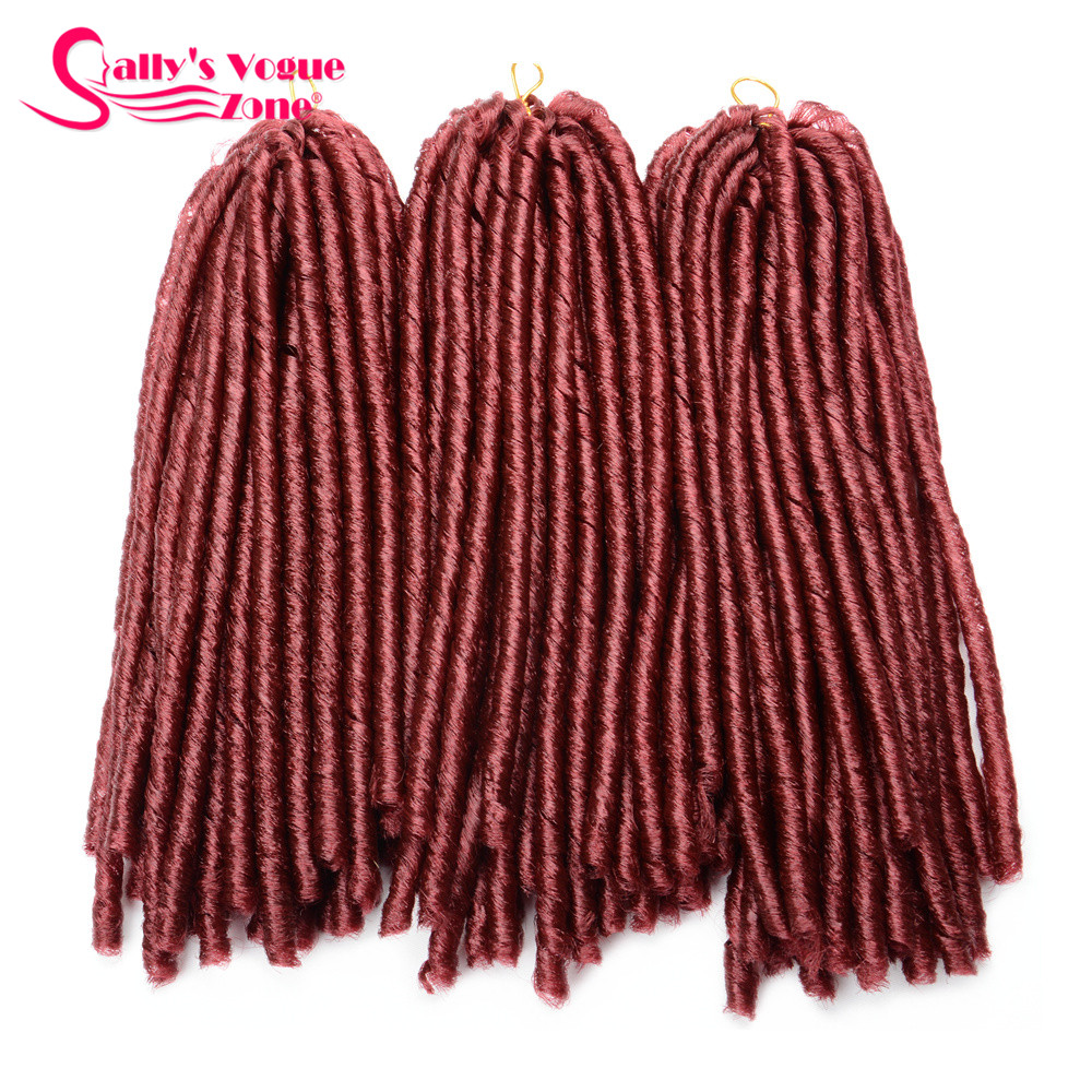 24 Roots Faux LocsCrochet Hair 18 Crochet Faux Lock Dreadlock Crochet Braids hair Extensions Synthetic Braiding hair Soft lock (119)_