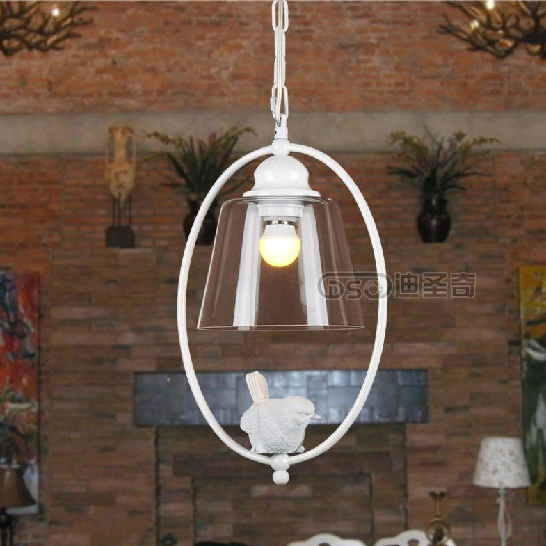 DSQ Modern scandinavia style country brief restaurant lights bird personalized rustic pendant light<br>