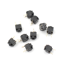 Hot Sale 10pcs/lot Original mouse square micro switch button EVQP0E07K Micro Switch Microsoft black spots(China)