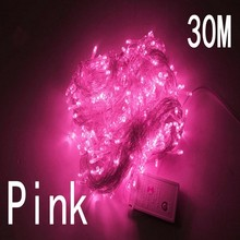 pink color 30m 240 led String Lights for Xmas Tree Holiday Wedding Party Decoration Halloween  Restaurant or Bar and Home Garden