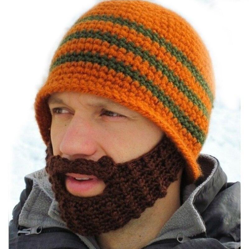 Novelty Fashion Warm Wool Hat casual Beanies Men Beard Handmade Knitted Wool Hats Knitted Winter Hat Free ShippingÎäåæäà è àêñåññóàðû<br><br><br>Aliexpress