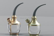1PC High Quality Retro Arabian Multifunctional Tobacco Water Pipe Smoking Filter- Golden ,Silver-Random E4059(China)