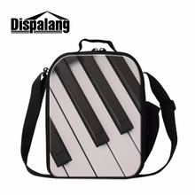Dispalang Music Lunch Bag for Children Unique Cooler Bag Patterns Art Insulated Lunch Container Fashion Lunch Carriers for Girls