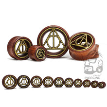 1 Pair Triangle Cross Saddle Ear Plug Gauge Wooden Flesh Ear Tunnel Body Expander Organic Piercing Jewelry