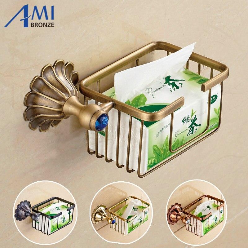 12-Petals Series Antique/Gold/Black/Rose Brass Toilet Paper Holders Bathroom Accessories Paper Shelf  Round Basket<br><br>Aliexpress
