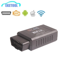 Newest WIFI Connection Wireless OBD OBDII Diagnostic Tool ELM327 WIFI OBD2 Tool Works Android/iOS Smart Phone ELM 327 Hot Sale