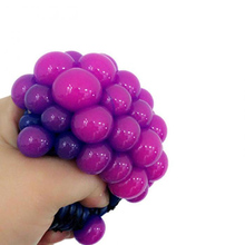 New Anti Stress Face Reliever Grape Ball Autism Mood Squeeze Relief Healthy Toy Funny Gadget Vent Toy Random Color
