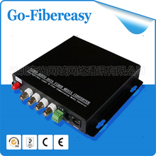 2pcs/lot 3G/HD/SD RS 232/RS422 - HD SDI Video/Data/tally Multiplexer Optical Converter(China)
