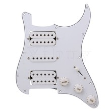 Yibuy Loaded pickguard White HSH For Humbuckers Guitar(China)