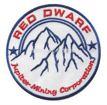 RED DWARF Company JUPITER MINING CORP Logo TV MOVIE Iron On/Sew On Patch Tshirt TRANSFER MOTIF APPLIQUE Rock Punk Badge