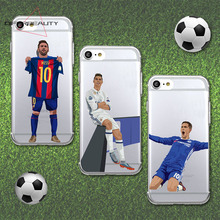 DIFFRBEAUTY Football Case For iPhone X Ronaldo Soft TPU Hazard Mobile Phone Cover for iPhone 5s se 6s 7 8 plus Case Capa Cover(China)