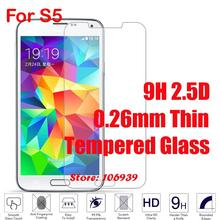 Cheap Anti-Scratch 9H 2.5D 0.26mm Phone Cell Mobile LCD Display Accessories Tempered Temper Glass For Samsung Galaxy Galaxi S5