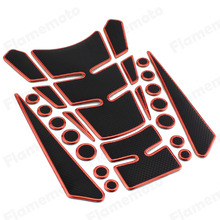 Motorcycle 3D Sport Bike Oil Fuel Gas Tank Pad Protect Decal Sticker Rubber (Gold Blue Silver Red)(China)