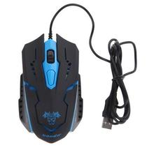 New 3200DPI 4 Buttons 7Colors LED Optical USB Wired Mouse Gamer Mice Computer Mouse Gaming Mouse For Pro Gamer