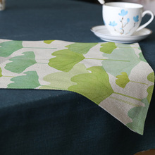 Cities Dog 3pcs Non-slip Placemat Table Mats Top Green Leaves Cup Pads Decoration Mat Cotton Linen Kitchen Tableware Accessories