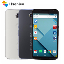 "Original Unlocked Motorola Nexus 6 XT1103 XT1100 Mobile Phone 5.96 ""Touch Screen 3GB RAM 32GB ROM 4G GPS WIFI Nexus 6 cell phone(China)"
