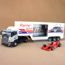 1PCS Free shipping Trailer stacking container model toys mack truck hot wheels cars toys world tank slot car wholesale PA1301
