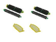 Filter +Flexible Beater Brush and Bristle Brush for iRobot Roomba 500 Parts Series 510 520 530 540 560 570 580(China)