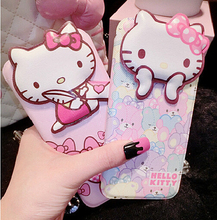 4 style Hello Kitty Flip Stand Leather Case For Apple iPhone 6 6s 6plus.Minnie Phone Protective Leather Cover for iphone 6