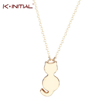 10pcs Fashion Statement Cute Love Cat Pendant Necklaces Charms Animal Kitty Necklaces Jewelry for women Chain Necklace za Bijoux