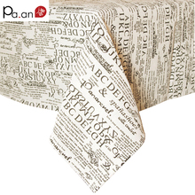 European style Linen cotton tablecloths letter printed microwave oven dustproof cover home hotel banquet table covers