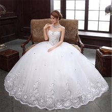 Brand New Glamorous Wedding Dresses Luxury Beading Princess Ball Gown Formal Dress White/Ivory Sweetheart Elegant Bridal Gown