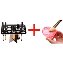 Makeup Brush Tree Brush Dryer Holder Organizer Hanger Folding Collapsible Dry Tower Brush Egg Brushes Cleaner Wash Scrubber tool(China)