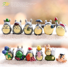 (12pcs/lot) my neighbor Totoro figure gifts doll resin miniature figurines Toys 1-3cm PVC plactic japanese cute anime151210(China)
