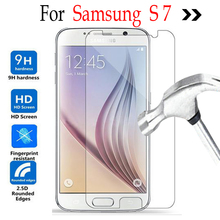 For Samsung Galaxy S7 glass Screen Protector Tempered glass On Samsung Galaxy S 7 Case G9300 G935F G9350 G930 Protective film