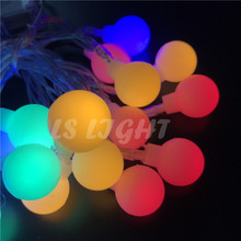 3M 30-led string lights with ball AA battery waterproof Wedding holiday Festival Christmas tree Patio outdoor decoration lights