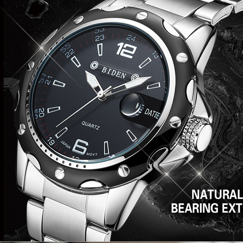 2016 BIDEN brand watches men quartz business fashion casual watch full steel date 30m waterproof wristwatches sports military wa<br><br>Aliexpress