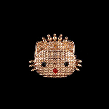 OneckOha Fashion Jewelry Gold Cute Hello Kitty Brooches Garment Accessories Women's Jewelry Pin(China)
