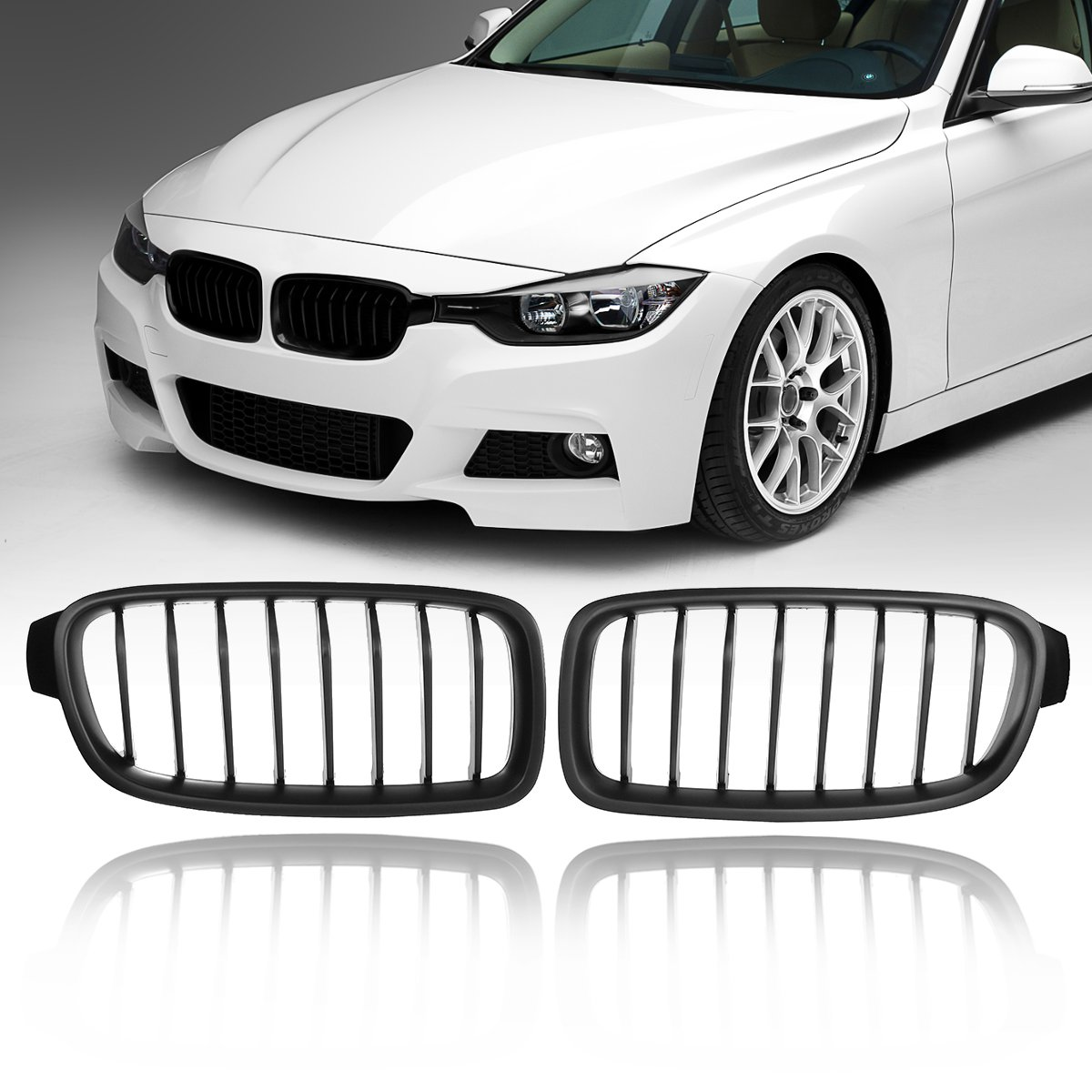 1pair Matte Black For Bmw F30 F31 F35 3 Series Front Kidney Grill Grilles 2012 2013 2014 2015 2016 2017 Racing Grills Aliexpress