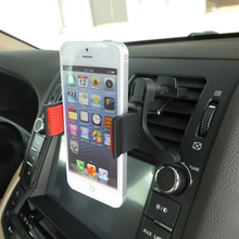 Phone Holder Car-styling Car Air Vent Mobile Phone Holder Black 360 Degrees Steering For Mp4 Mobile GPS PDA Auto Mounts #HP