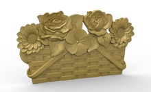 flower 3D model relief STL model for CNC Router carving engraving artcam type3 aspire M380