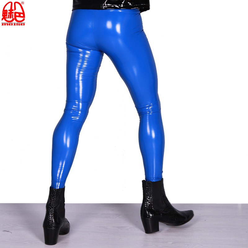 Sexy-High-Elastic-Blue-PVC-Shiny-Pencil-Pants-Tight-Faux-Leather-Fashion-Glossy-Punk-Pencil-Pants (3)