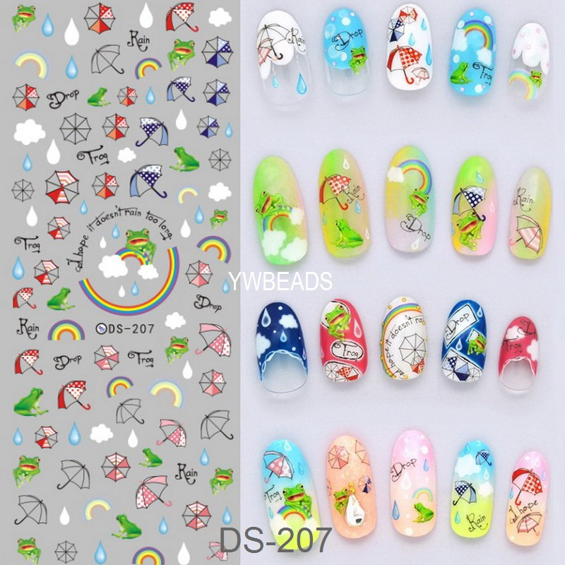 Manicure Watermark Large Sheet Sticker Accessories Decal Nail Art Sticker Japanese Manicure Sticker DS196-208<br><br>Aliexpress